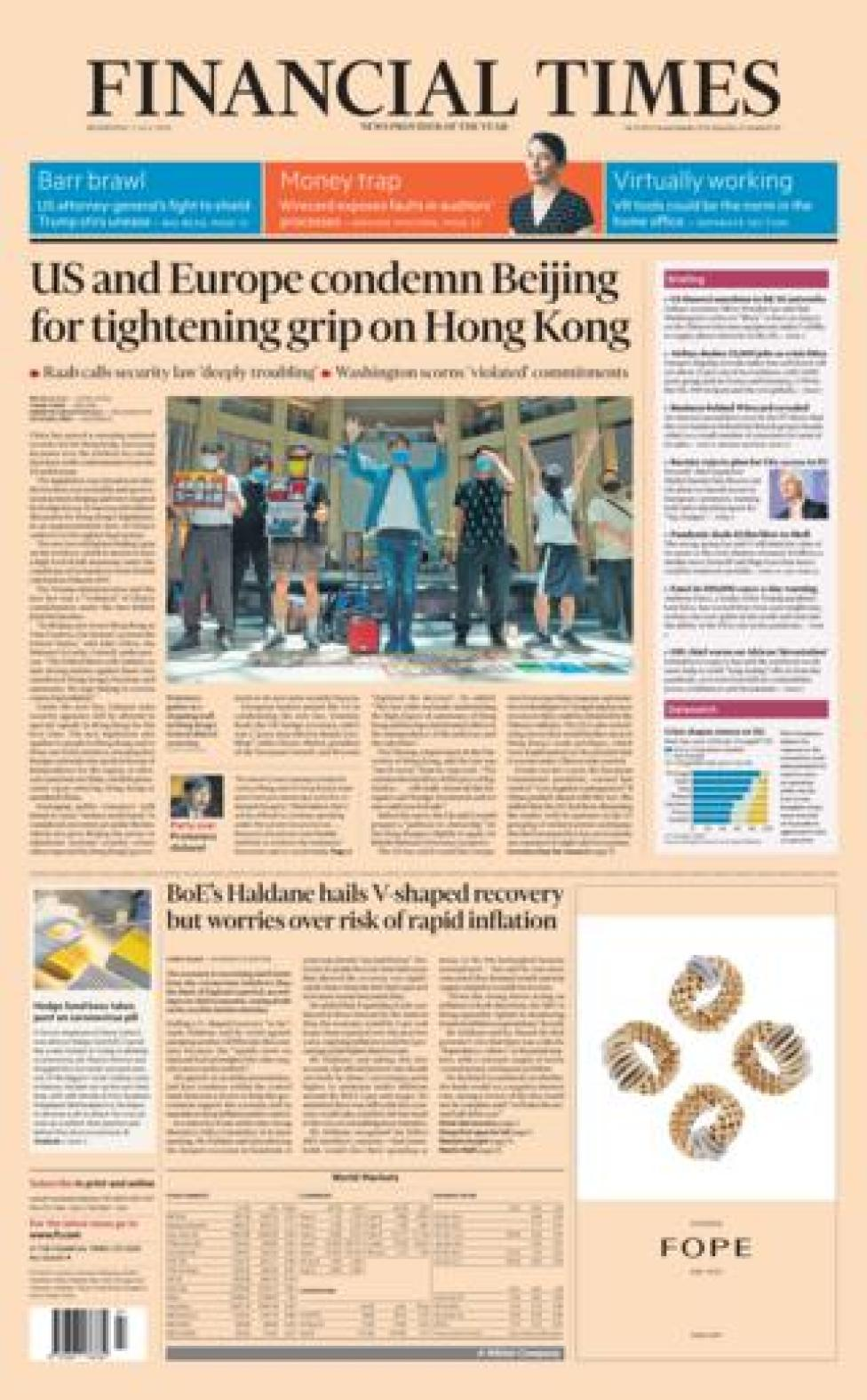 FT front page 1.07.20