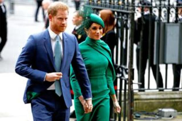 The Duke and Duchess of Sussex arrive for the annual Commonwealth Service at Westminster Abbey