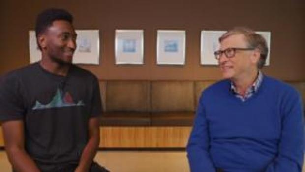 Marques Brownlee and Bill Gates