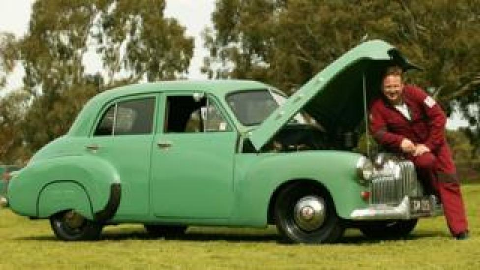 A 1951 FX Holden belonging to the director of Queenscliff music Festival