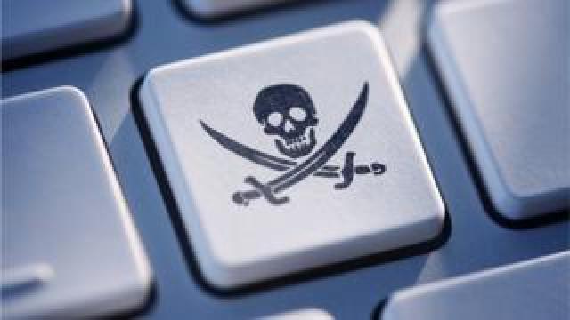Pirate flag on key