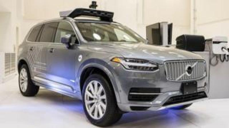 Volvo Uber car