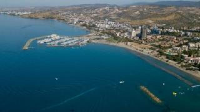 An aerial view of the town of Limassol