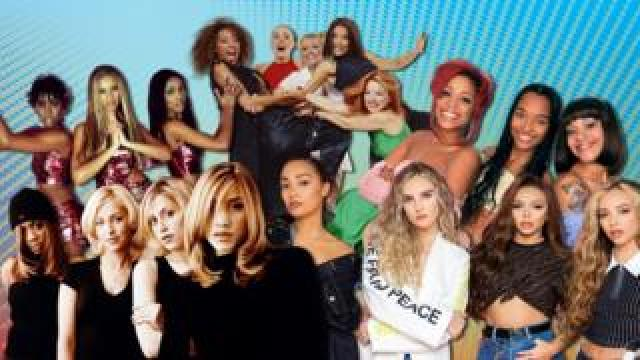 A montage of girl bands