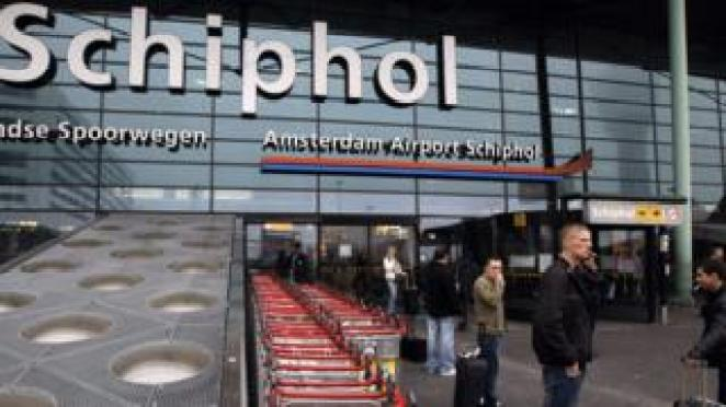 File image of Schiphol airport entrance