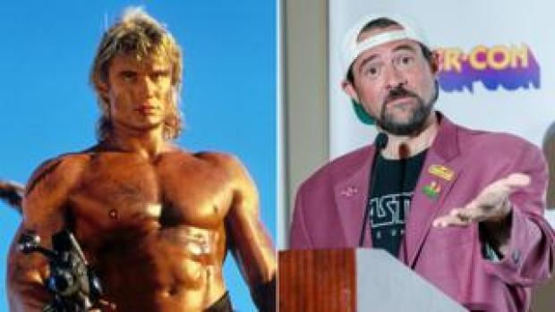 Dolph Lundgren as He-Man and Kevin Smith