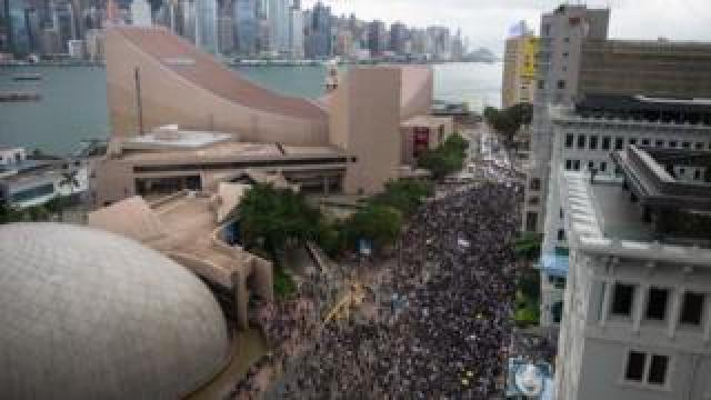 Protest against the extradition bill in Hong Kong