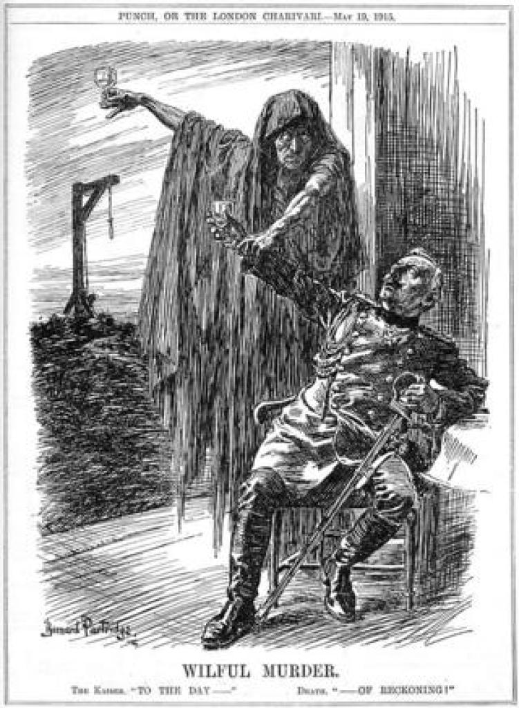 "Карикатура из журнала ""Панч"" 1915 года."