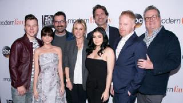 Modern family cast and executive producer Steven Levitan