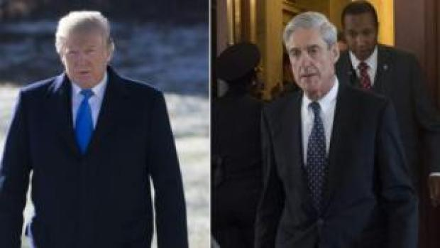Composite image of Trump and Mueller