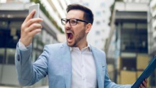 Image of shouting man