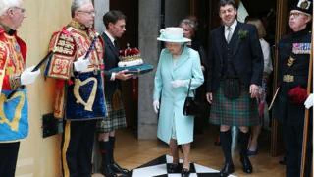 The queen in 2016