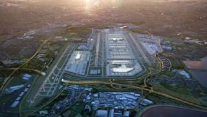 Architects' visualisation of expanded Heathrow
