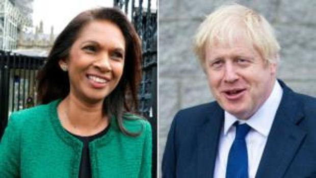 Gina Miller and Boris Johnson