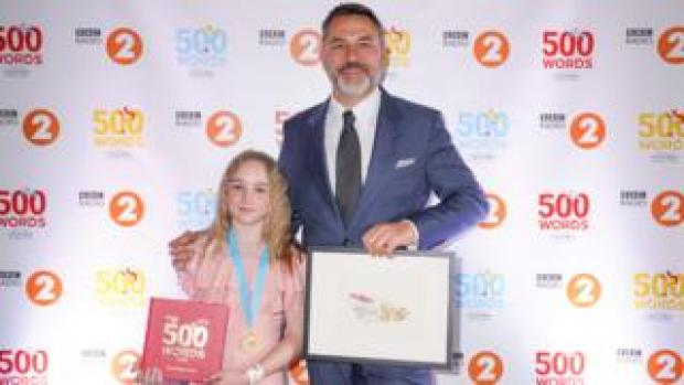 Esme Harrison-Jones with David Walliams