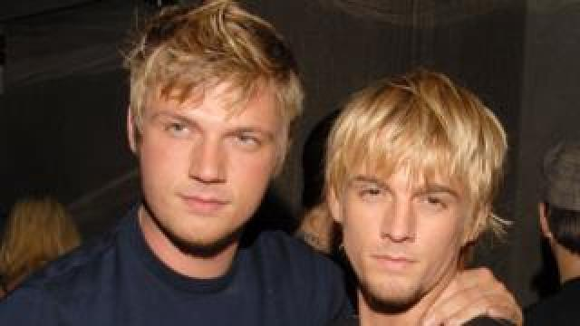 Nick and Aaron Carter in 2006