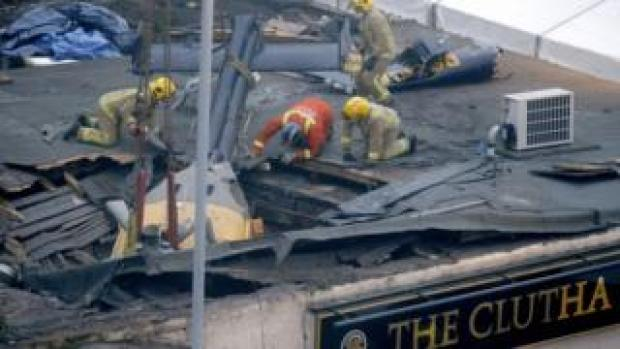 Helicopter crashed into The Clutha