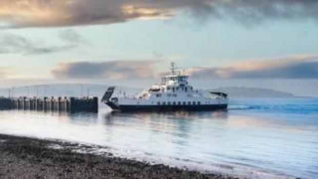 Calmac ferry at Cumbrae