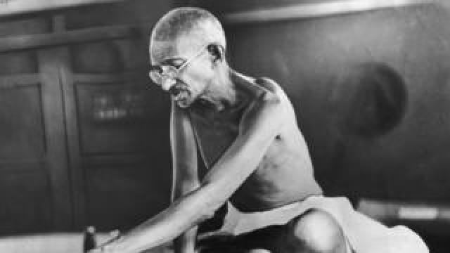 Circa 1935: Indian spiritual and political leader Mahatma Gandhi (1869 - 1948)