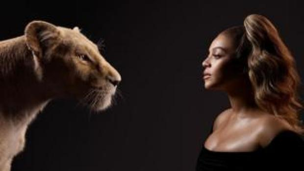 Beyonce and Lion King promotional photo
