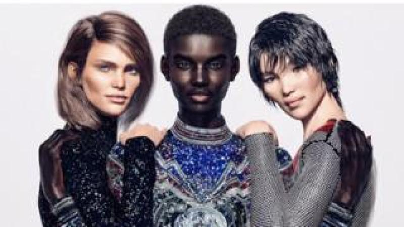 Balmain's virtual army advertising campaign