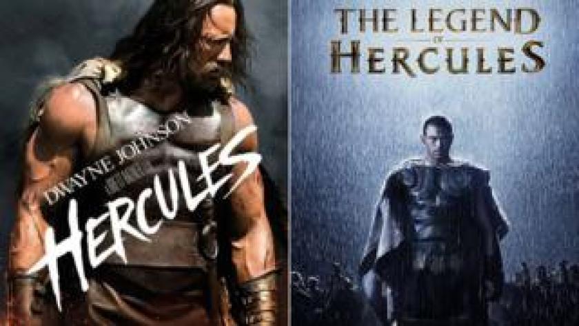 """Afiches de """"Hércules"""" y """"La leyenda de Hércules"""""""