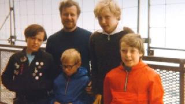 Dennis Canavan and the four children he has lost