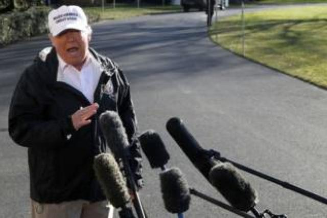 Mr Trump addressed reporters on his way to visit the US-Mexico border.