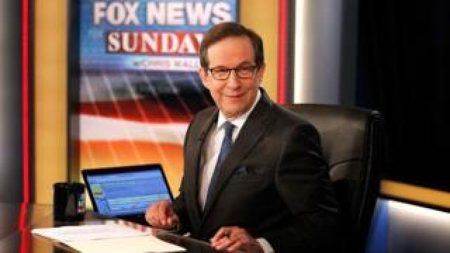"Chris Wallace awaiting the arrival of former Vice President Al Gore on the set of ""Fox News Sunday with Chris Wallace"" at FOX News D.C. Bureau on June 4, 2017"