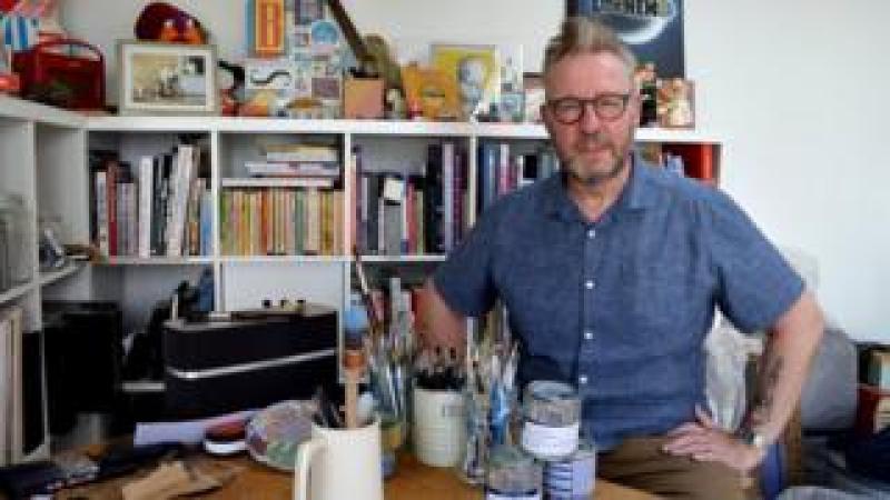 Pete McKee in his studio