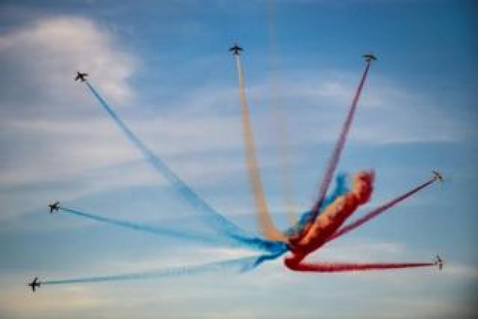 French elite acrobatic flying team Patrouille de France perform