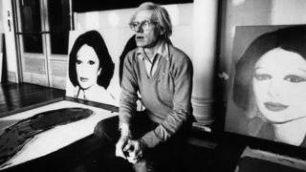 "Artist Andy Warhol next to ""Princess Of Iran"" in 1977"