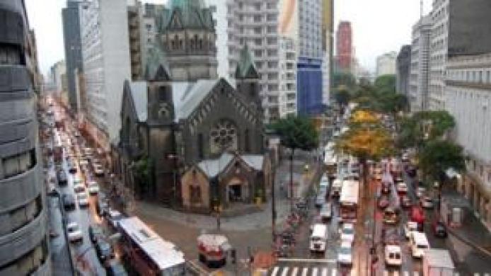 Fachada da Basílica Nossa Senhora da Conceição, em Santa Cecília, São Paulo