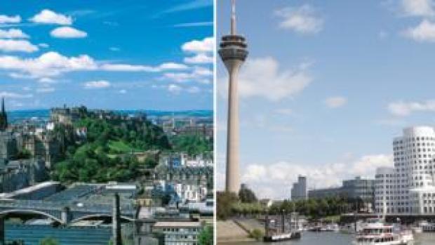Edinburgh and Dusseldorf