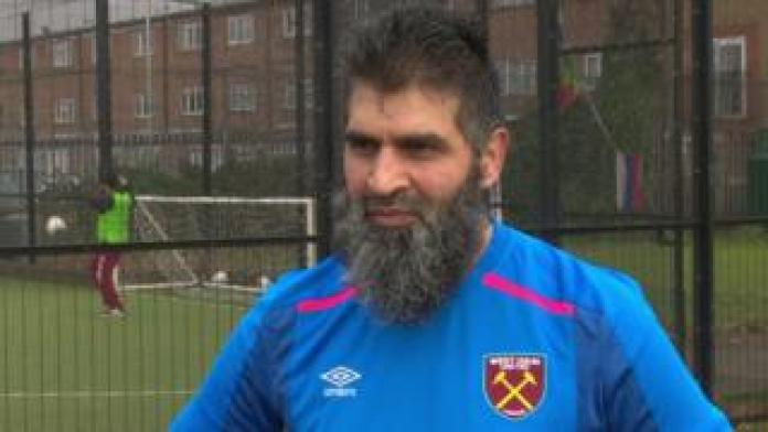 Arif Qureshi has lost weight through playing football