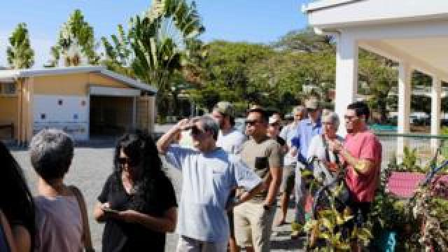 People line up to cast their ballots for or against the independence of New Caledonia, November 4, 2018 in Noumea