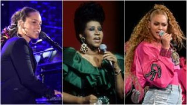 Alicia Keys, Aretha Franklin, Beyonce