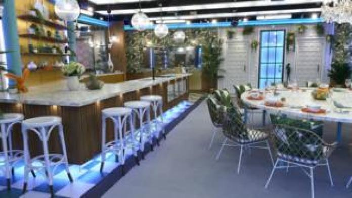 The kitchen in the Celebrity Big Brother 2018 house