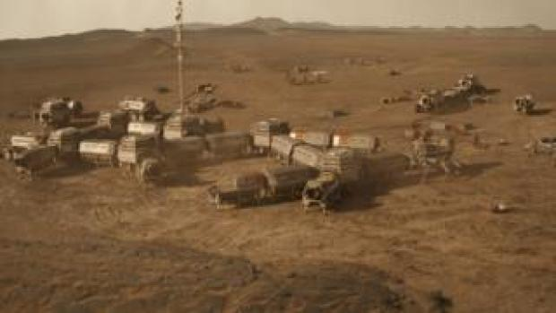Mars colony from Mars season two