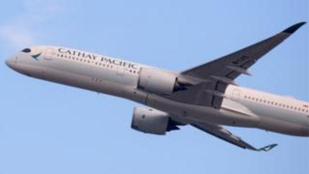 A Cathay Pacific plane