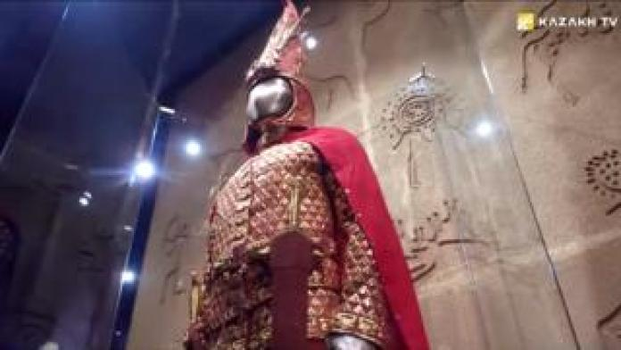The Golden Man armour in the Kazakh National Museum