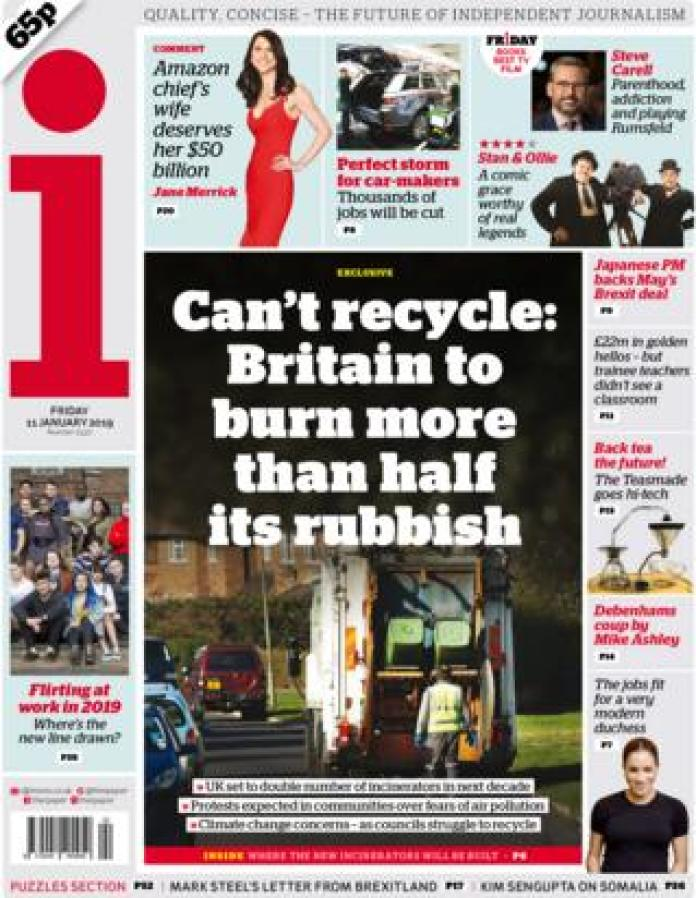 The i front page, 11/1/19