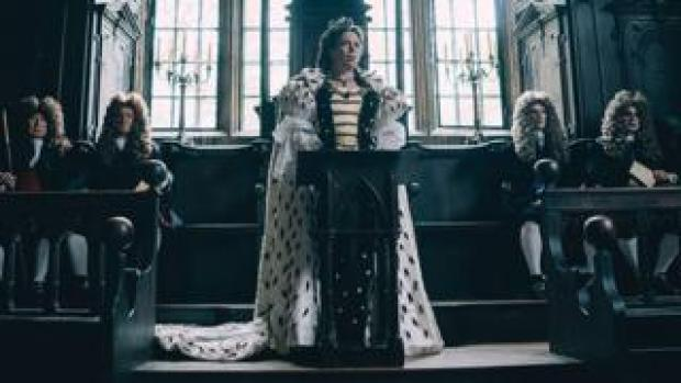 Olivia Colman (centre) in The Favourite