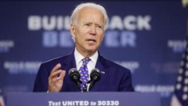 Joe Biden speaks at a campaign event in Wilmington, Delaware, US, July 28, 2020