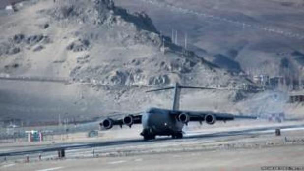 Daulat Beg Oldi runway on the mountain