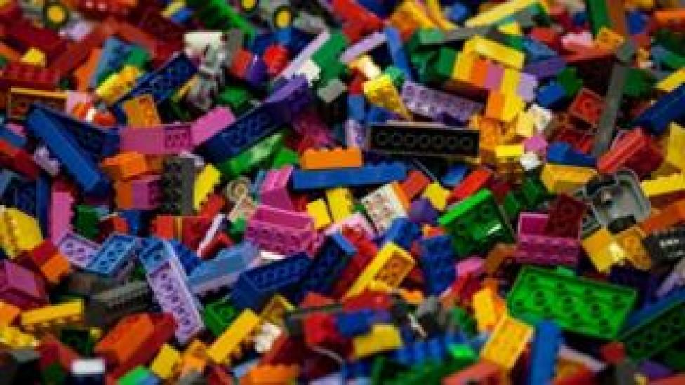 Close up of Lego blocks