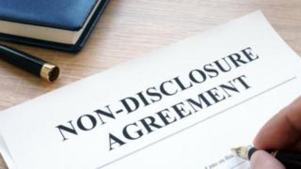 Signing a non-disclosure agreement