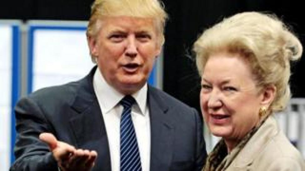 trump Donald Trump with his sister Maryanne Trump Barry