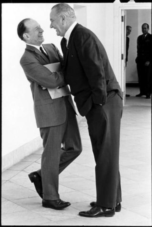LBJ towers over a congressman