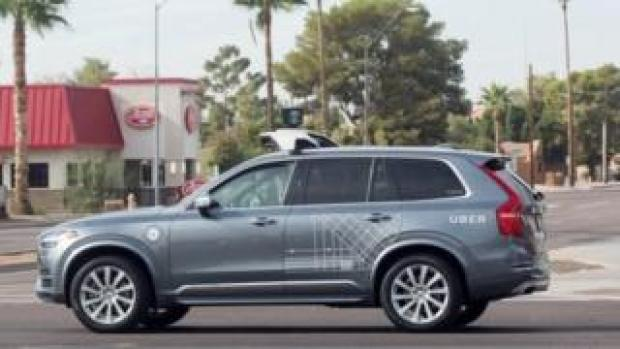 self driving Uber Volvo